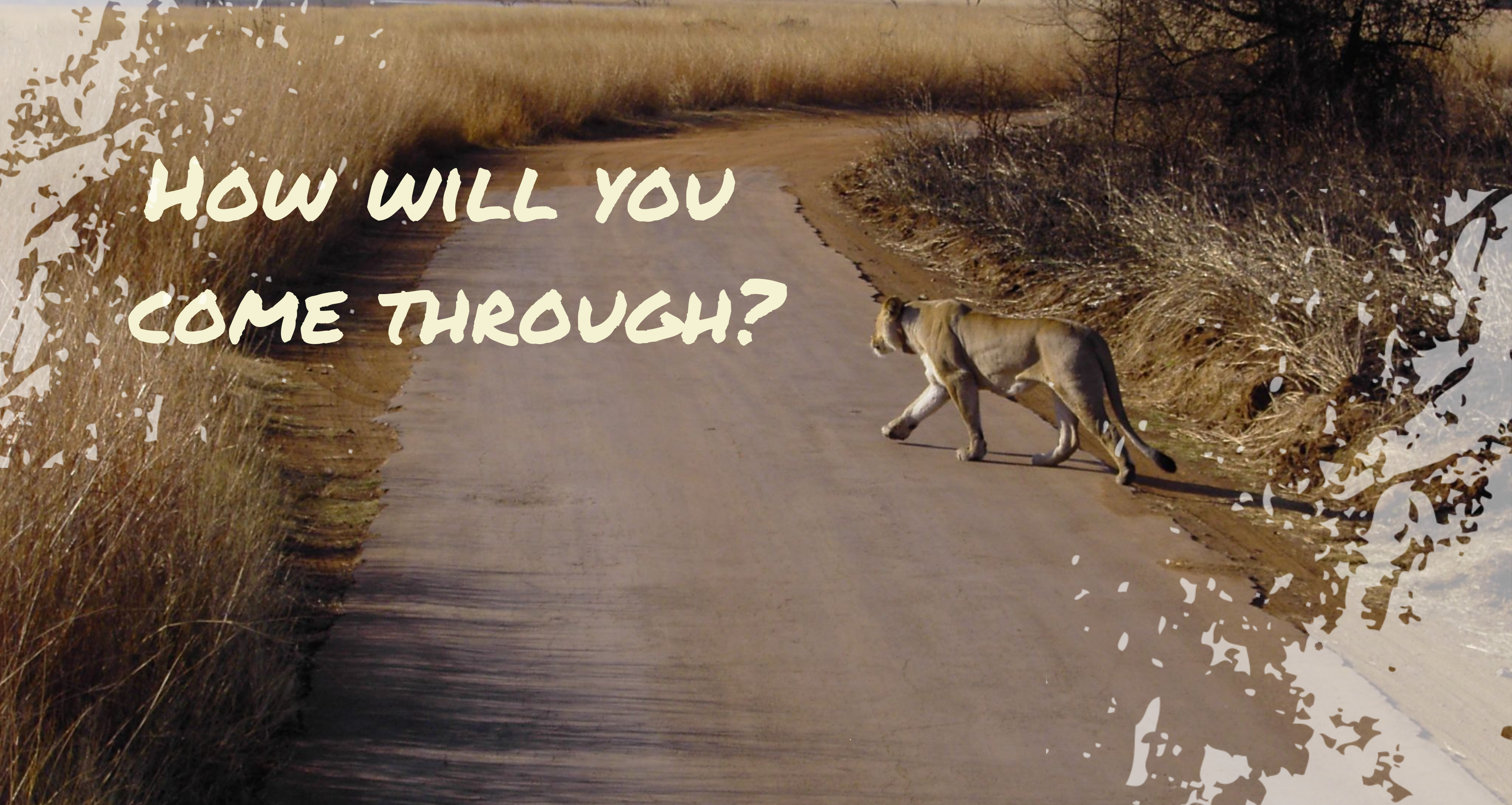 How Will You Come Through?